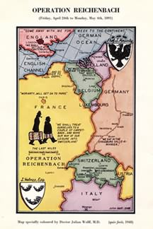 Lord Donegall's card for 1965. Map by Dr. Julian Wolff, M. D.
